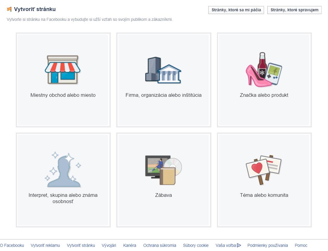 ako založiť FB stránku
